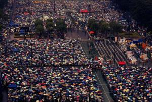 A major demonstration on July 1st, the 16th anniversary of the handover of Hong Kong