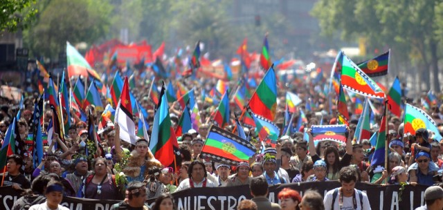 CHILE-COLUMBUS DAY-MAPUCHES-PROTEST