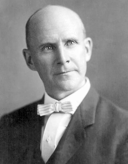 Eugene V. Debs- socialist, labor organizers, snappy dresser, jailed for opposing World War I.
