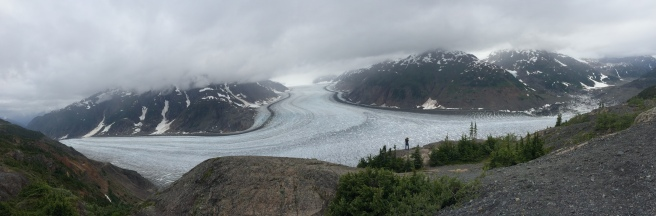 Panorama of Salmon Glacier; Hyder, Alaska. Photo taken by Andrew Mackay