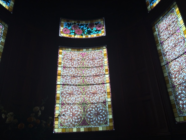Stained glass in Craigdarroch Castle, Victoria, British Columbia. Taken by Andrew Mackay