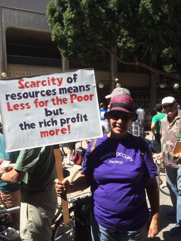 At the San Diego People's Climate march.  Photo by Andrew Mackay