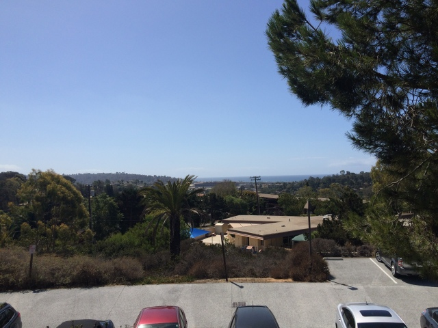 View towards the Pacific from the campus.