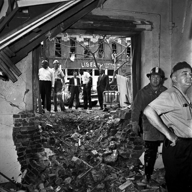 The rubble of 16th Street Baptist. September, 1963